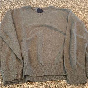 Gap Kids Boys Pullover Gray Vneck Sweater Size XL